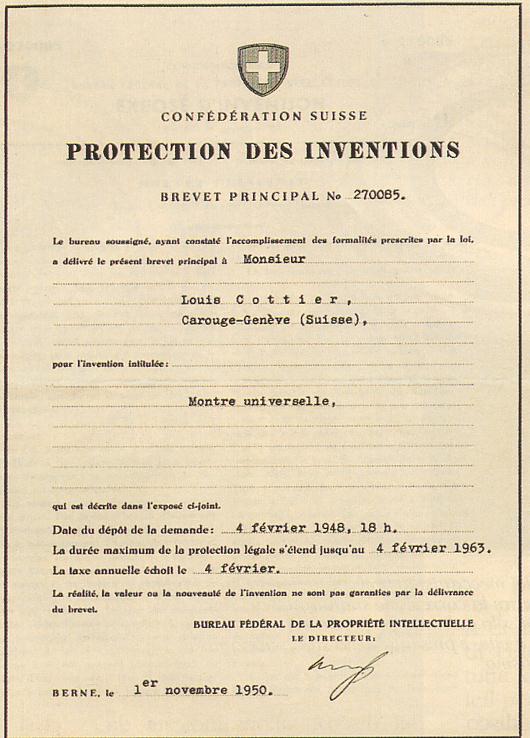 LouisCottier_patent